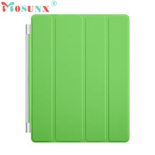 Mosunx Advanced tablet Fashion Ultra Thin Magnetic Leather Smart Cover Case for Apple iPad 2 3 4 Green  1PC