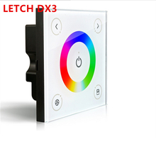 LTECH DX3 New Touch Led DMX Rgb Controller 100-240V 86 Glass Panel DMX512 DX3 Led RGB DMX512 Free Shipping(China)
