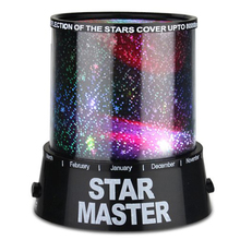 New Fashion Star Sky Colorful LED projector lighting Star Lamps Night Light Party Club