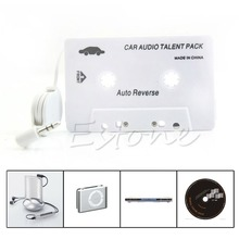 Cassette Car double track Audio Tape Adapter 3.5mm Aux For iPod iPhone MP3 CD Player Dual Mono(China)