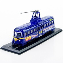 New Tram Train Model Toys 1/87 Scale Diecast Tramways Railcoach (Brush)-1937 Blue Tram Model For Children Gifts Collections(China)