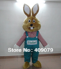 easter bunny rabbit mascot costume for adults to wear(China)
