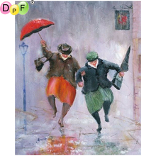 DPF DIY The umbrellas 5D diamond painting cross stitch diamond embroidery mosaic full square diamond crafts wall painting crafts(China)