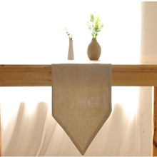 Modern pure grey cotton linen table runner promation  table runner for kitchen hotel home party simple table decoration hot sale