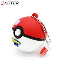 JASTER hot Pokemon usb flash drive Pocket Monster/Poke Ball/ Pikachu pen drive 4gb 8gb 16gb 32gb u disk memory stick fashion