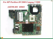 High Quality 448598-001 For HP Pavilion DV2000 Compaq V3000 Laptop Motherboard 965GM DDR2 100% Tested(China)