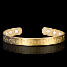 Fashion Women Healing Energy Magnetic Copper Bracelet Promote Blood Circulation Balance Cuff Bangles Jewelry Drop Shipping(China)