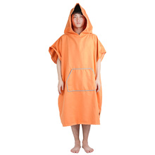Winthome Microfiber Beach Bathrobe Adult Changing Towel Beach Poncho Robe With Hood One Size Fits All