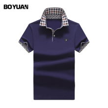 BOYUAN Polo Shirt Men Brand Polo Shirts Men 2017 Summer New Fashion Casual Polo 5 Colors Plus Size M-3XL Slim Fit Cotton  BY2399