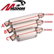 Cbr ttr yzf 250cc 300cc motorcycle exhuast motorbike muffler silencer yoshimura escape moto exhaust pipe accessories(China)