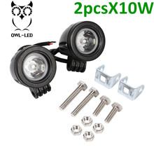 2pcs Factory Directly Wholesale Price IP67 headlight bulb 10W LED Work Light, 10w extra light for motorcycle suv atv
