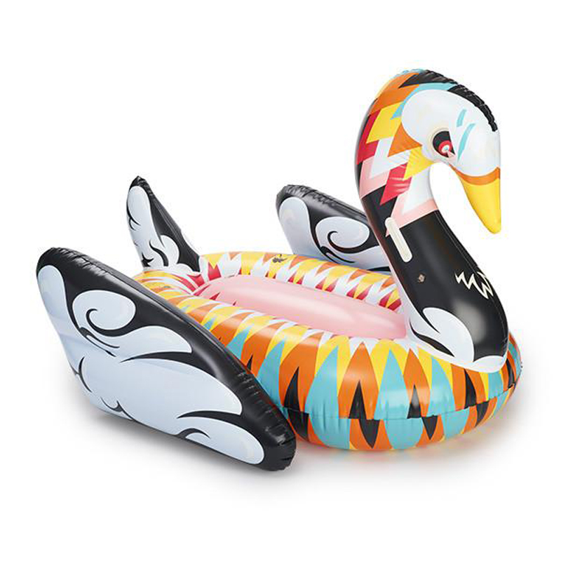 190cm-Colorful-Swan-Pool-Float-Women-Inflatable-Floating-Row-Ride-on-Swimming-Rings-Beach-Party-Deco (2)