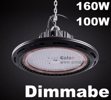 Bus train station workshop warehouse 5 yeas warranty 1-10V PWM resistance dimming lamp 160W 100 watt dimmable LED highbay light(China)