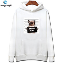 2017 New Cartoon Hooded Hoodies Lover Cats Kangaroo cat Hoodie Long Sleeve Sweatshirt Front Pocket Casual Animal Ear Hoodie 020