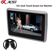 XST 10.1 Inch Car Headrest Monitor Touch Screen DVD Player Support HD 1080P Video Support USB/SD/IR/FM Transmitter/Speaker(China)