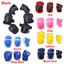 6pcs/set Skating Protective Gear Set Knee Pads Elbow pads Bicycle Skateboard Ice Skating Roller Wrist Protector For Adult Kids
