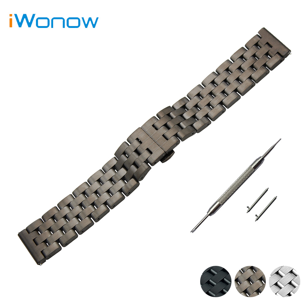 Stainless Steel Quick Release Watch Band 20mm 22mm for Rolex Butterfly Buckle Strap Wrist Belt Bracelet Black + Spring Bar<br><br>Aliexpress