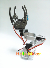 Hello Maker H395 Abb Industrial Robot Mechanical Arm 100% Alloy Six degrees of freedom Robot Arm Rack with 6 Servos(China)