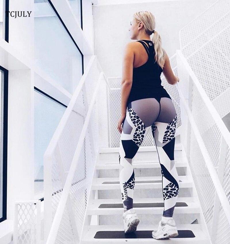 Leopard Patterns Leggings, Geometric Digital Printed Female Leggings, Elastic Push Up Leggings Pants 13