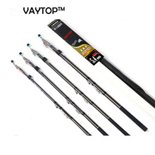 VAYTOP carbon fiber fishing rod spinning  carbon rod Telescopic carbon fiber carp  fishing rod  2.7m 3.6M 4.5M 5.4M 6.3M