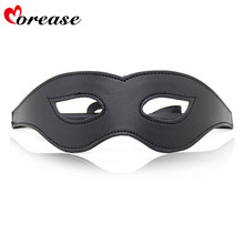 Buy Morease Black Sexy Eye Mask Blindfold Bondage Leather Fetish Slave Erotic Cosplay Bdsm Product Women Adult Game Sex Toys