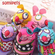 Fat Interactive Fancy Catnip Cat Toy Fat Canvas Colorful Mouse Cat Mint Goods For Pets Funny Mouse Fun Toys For Cat Toys Mouse
