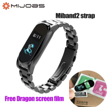 Buy Mijobs Metal Strap Xiaomi Mi Band 2 Strap Screwless Stainless Steel Bracelet MiBand 2 Wrist Strap band xiaomi Band 2 for $4.48 in AliExpress store