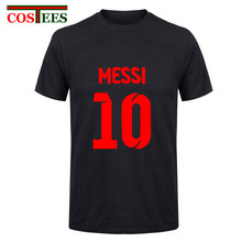 2017 Lionel Messi Shirt camiseta Barcelona camisa T shirt Men Short sleeve Messi T-shirt Cotton tshirt Tops Argentina jersey Tee(China)