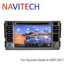 car dvd for Hyundai Santa Fe 2007 2008 2009 2010 2011 GPS Navigation Bluetooth Radio  iPod+Free Map