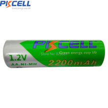 2Pcs nimh batteries AA 2200mAh Plus 2Pcs AAA 850mAh 1.2v NIMH Rechargeable Battery Precharged Packed with 1pc Battery Box aa aaa(China)