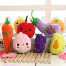 Buy 5 get 5! Selling fruits and vegetables Little Doll Plush Toys Pendant Child baby educational toys 6-13cm Plants dolls(China)