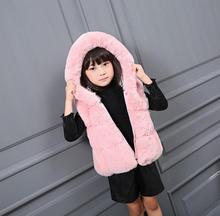 spring autumn 2017 poncho jacket children windbreaker for girls long sleeve vest coat faux fur kid knitting waistcoat tops S488(China)
