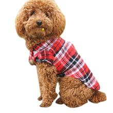 New Qualified Hot Selling Blue/Red Plaid Cute Pet Dog Puppy Clothes Shirt Size XS/S/M/L dog dress roupa de cachorro D48SE4(China)