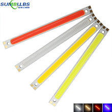 10pcs/lot 10W Blue Red Warm White Cold White DC 12V 14V COB Strip LED Lamp Bulb Lighting Source for DIY Wall Car Room Bar Lights(China)