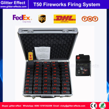 Remote control fireworks firing system 50pcs pyrotechnic Wireless firing console Igniter  for wedding or celebration party