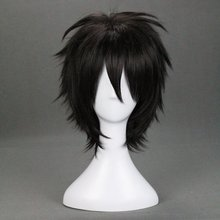 Kirigaya Kazuto 32cm Short Straight Black Synthetic Hair Wig Annie Sword Art Online Kirito Heat Resistent Cosplay Wig(China)