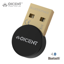 QICENT Plugable USB Bluetooth 4.0 Low Energy Adapter for PC, Wireless Dongle Keyboard Mouse Support All Windows 10 8.1 8 7 XP