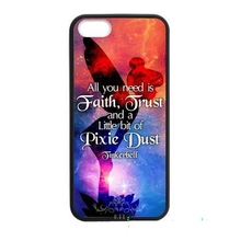 0008 Disny PETER PAN TINKERBELL Design cell phone bags case cover for iphone 4S 5S 5C SE 6S 7 PLUS Samsung S6 S7 NOTE IPOD  4 5