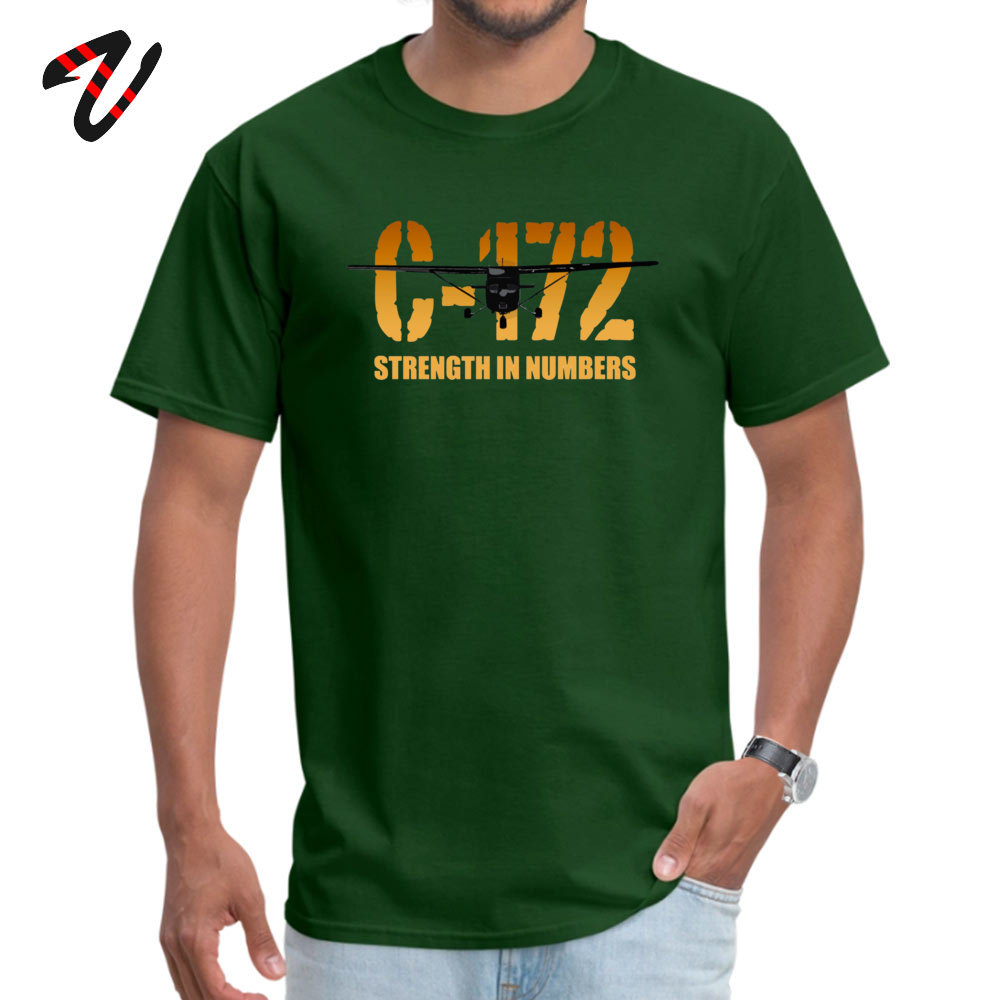 cosie Young Special Casual Tees O-Neck Summer Fall 100% Cotton Fabric T Shirt Summer Short Sleeve Tshirts Drop Shipping Cessna C-172 Strength in Numbers -670 dark