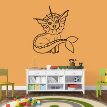 55*57cm PVC Pokemon Wall Sticker 0200 Bedroom Decor Removable Waterproof DIY Child's Art Craft Gift Sticker Accessories(China)