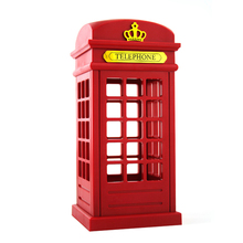 Stylish Retro Telephone Booth Desk Table Lamp USB Rechargeable LED Touch Night Light for Kids Bedroom Decor Nightlight(China)