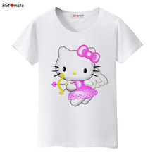 BGtomato Cupid Hello Kitty cartoon t shirt women fashion popular shirt Brand Good quality comfortable soft tops tees(China)