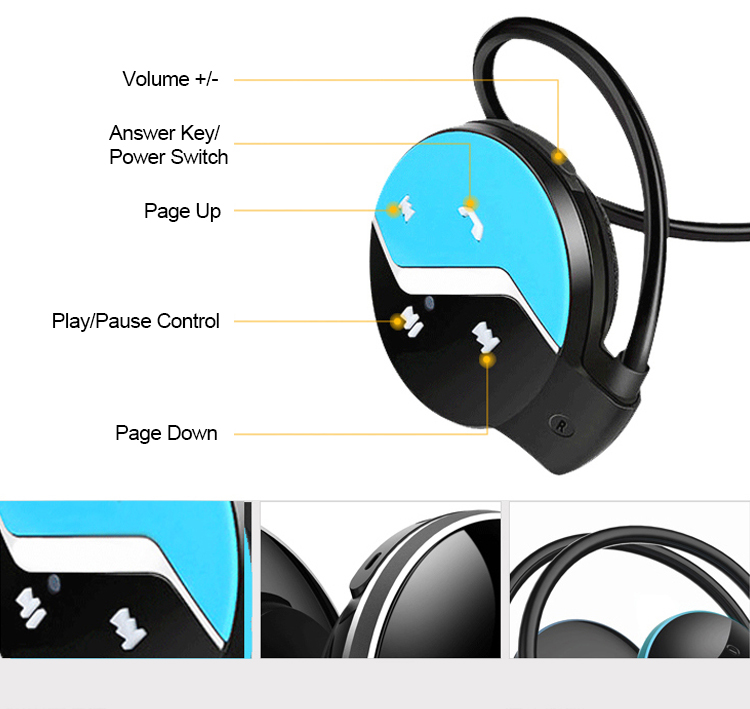 Wireless Earphone MINI 808 Bluetooth Stereo with microphone Voice control waterproof for Android and IOS