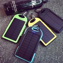 Dual USB 8000MAH Large Capacity Solar Power Bank Battery Charger Powerbank Fast Supply Flashlight Smart Phones Charging