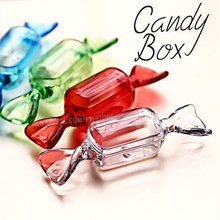 Lovely Candy Box DIY Accessory Tiny Display Storage,Clear Red Green Blue color for Nails Art Jewelry beads Crafts container case