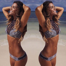 Leopard Sexy swimsuit female models 2016 New bikini push up swimwear Lady Beach swimming suit for women clothing
