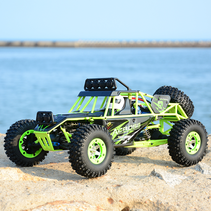 High WLtoys 12428 Remote Control Car 2.4G 1/12 4WD Crawler RC Car LED Light RTR High Speed Drit Bike vehicle