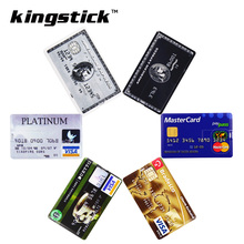 Free shipping 32GB Bank Card USB Flash Drive 64gb Pendrive 16GB 128GMemory stick 4GB 8GB HSBC MasterCard Credit cards Pen drive