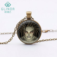 StarCraft Necklace Spiral Flame Figure Zerg Pendants StarCraft 2 Retro Bronze Alloy Pendant Animation Movie Jewelry