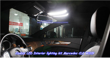 Car LED Interior lighting Xenon White 8000k for Mercedes CLK W209 Dome Map Vanity Mirror Glove Box Trunk Light